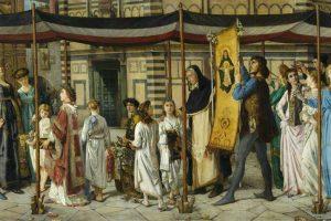 A Florentine Procession by Jane Eleanor Benham Hay