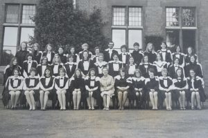The graduating class of 1971, with Principal Paston Brown