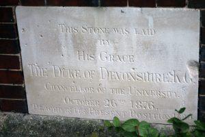Foundation Stone of Cavendish College