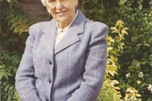 Margaret Todd wearing her blazer in 1994