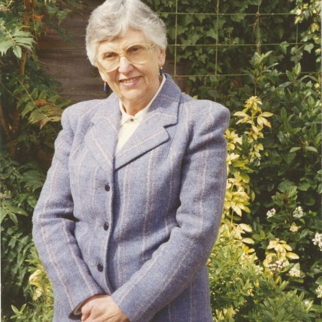 Margaret Todd wearing her blazer in 1994