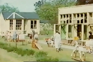 A still from the film of Homerton nursery