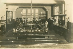 Chemistry lab early 20th century