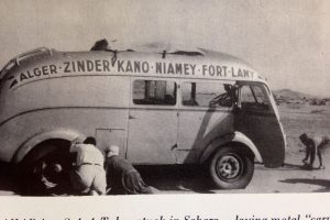 Bus breakdown in the Sahara 1950