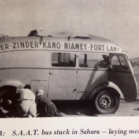 Bus breakdown in the Sahara 1950