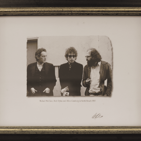 Michael McClure, Bob Dylan and Allen Ginsberg