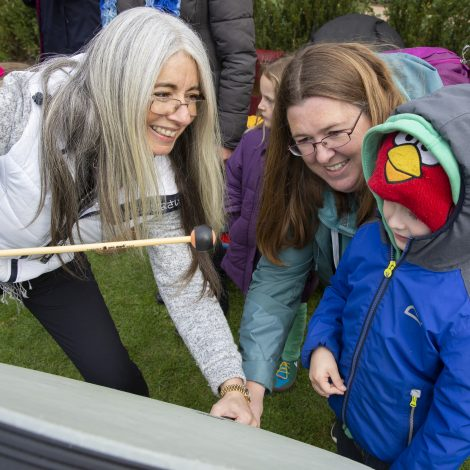 Dame Evelyn Glennie with attendees